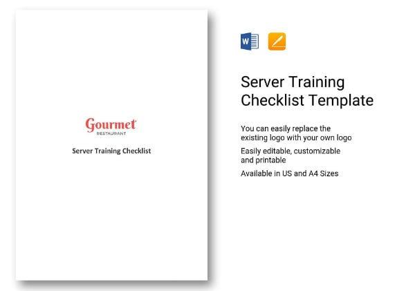 247 sampleserver training checklist 1