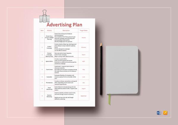advertising plan template 1
