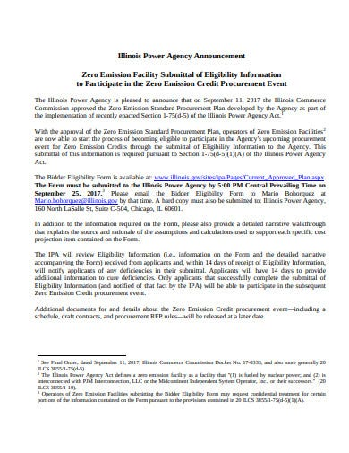 agency announcement in pdf