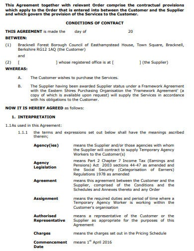 agency workers invitation to tender
