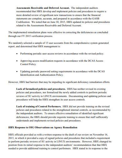 audit remediation plan in pdf