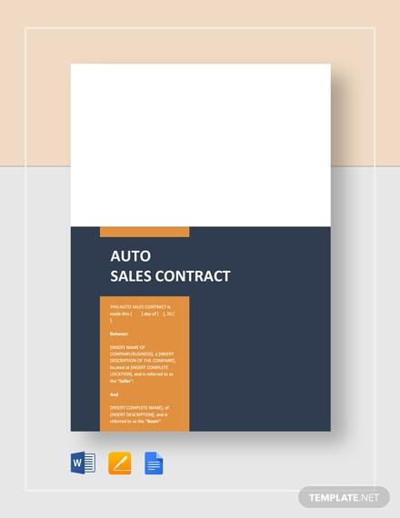 auto sales contract 2
