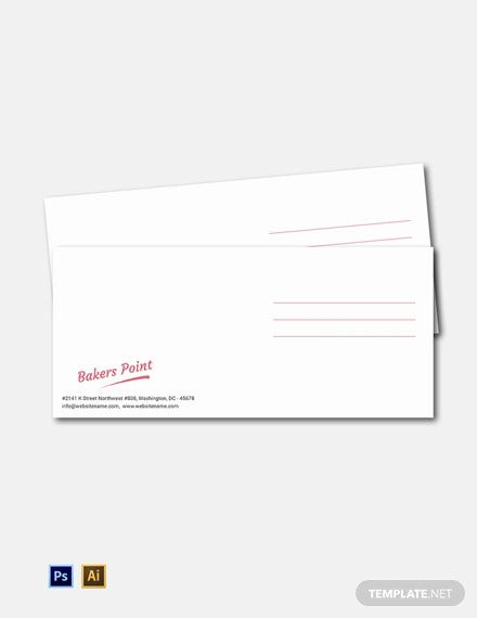bakery envelope template