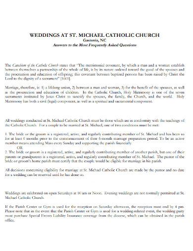 best catholic church wedding program