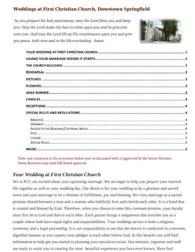 best church wedding general program