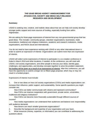 board agency announcement format