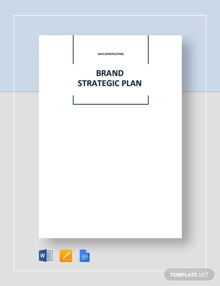 brand strategic plan template
