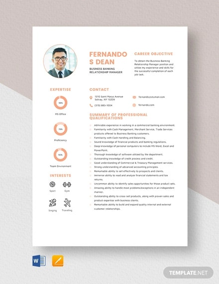 22 Sample Banking Resume Templates Pdf Doc Free Premium