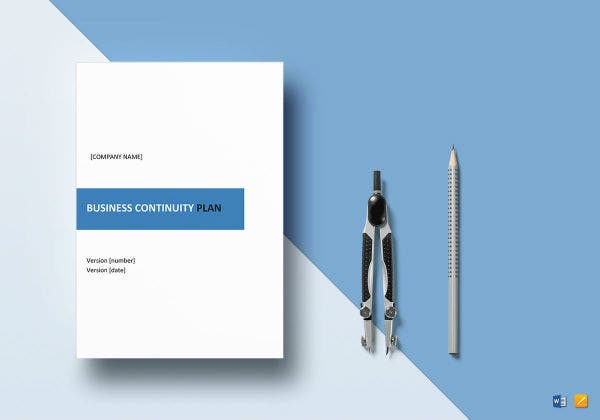 business continuity plan template mockup