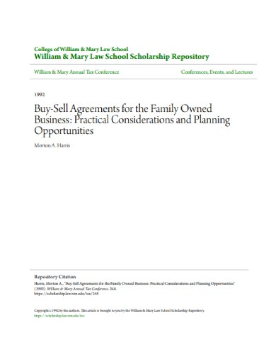 buy sell agreements for the family owned business1
