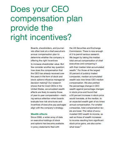 ceo compensation plan in pdf