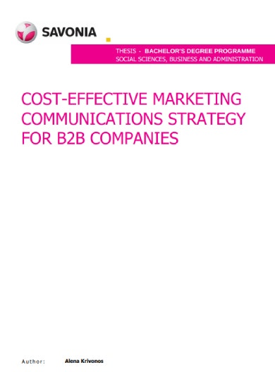 cost effective b2b marketing methods sample