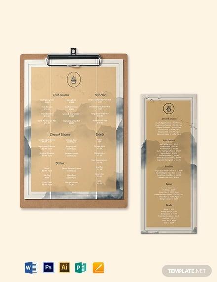 chinese restaurant menu template2