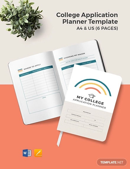 college application planner template
