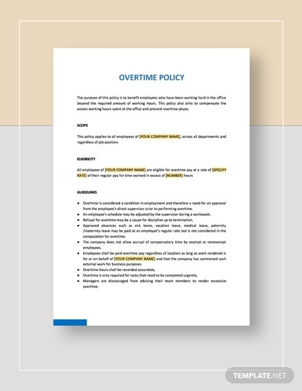 company overtime policy