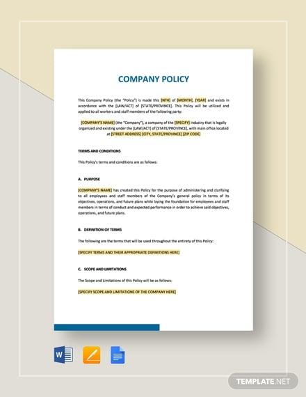company policy