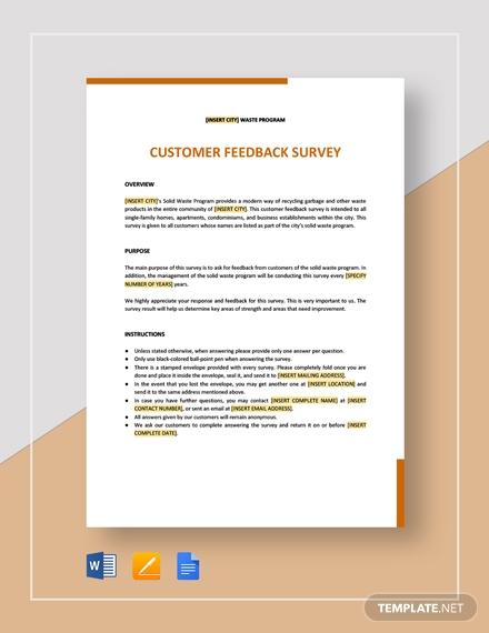 customer feedback survey 2