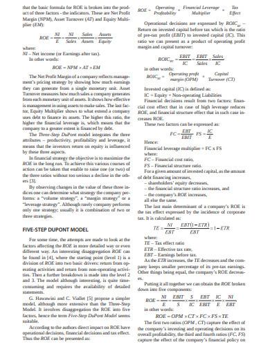 determinants of return on equity