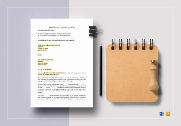 employee benefit plan explanation letter template 1