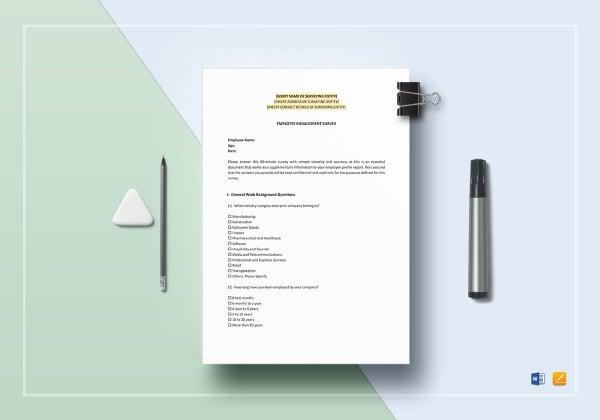 employee engagement survey template 1
