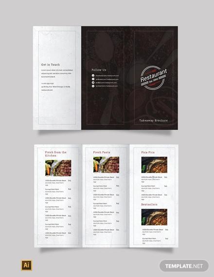 family restaurant tri fold brochure template1