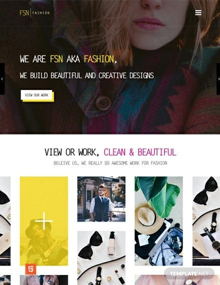fashion designer html5 css3 website template