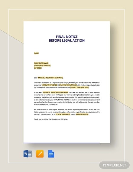 Legal Notice Format Doc from images.template.net