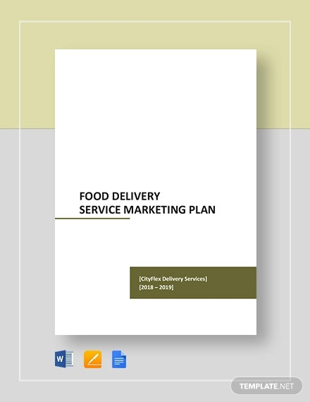 food delivery service marketing plan template