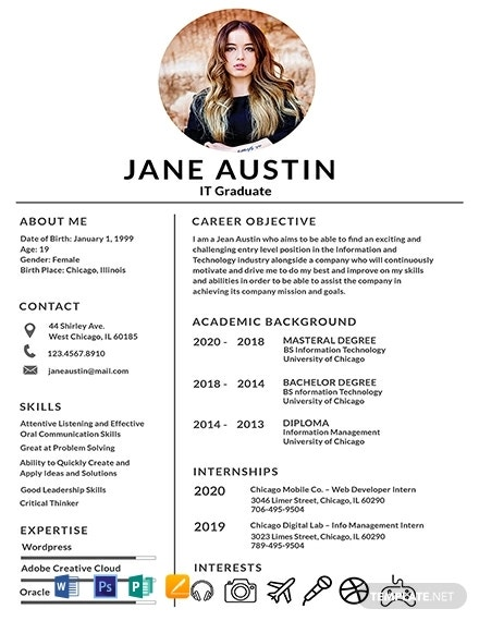 free basic fresher resume template