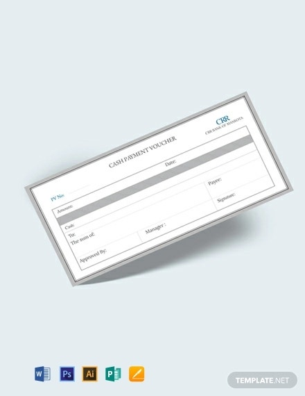 free cash payment voucher template