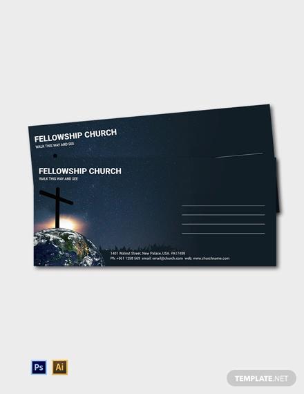 free church envelope template