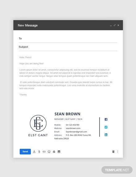 free company manager email signature template