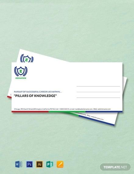 free education envelope template