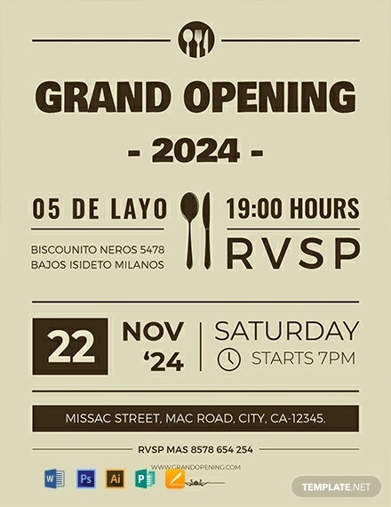 free grand opening flyer template