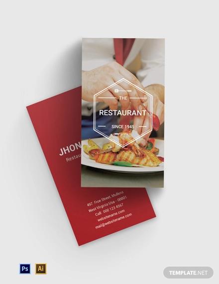free ideal restaurant business card template