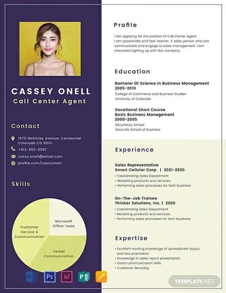 free no experience call center resume