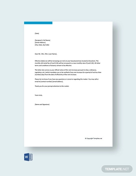 Rental Increase Letter Template from images.template.net