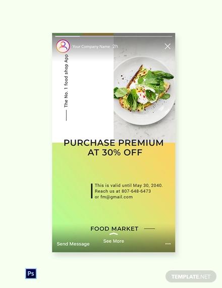 free restaurant app promotion instagram story template