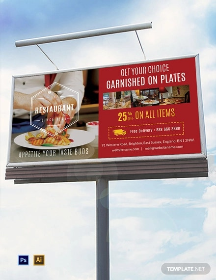 free restaurant billboard template1