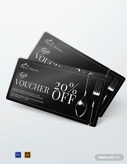 free restaurant discount voucher template1