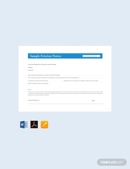 free sample eviction notice template