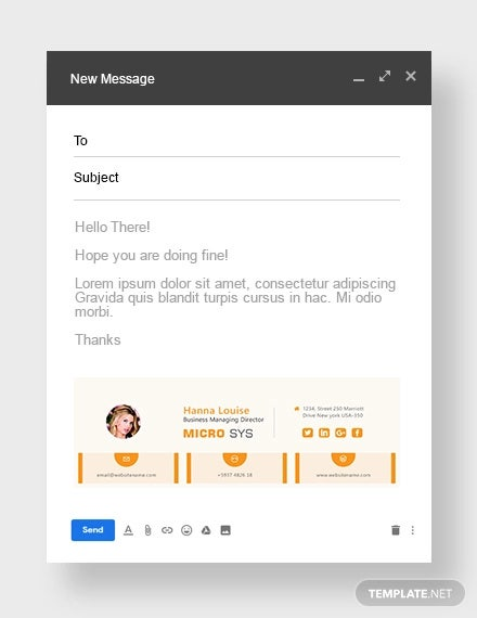 free standard email signature template