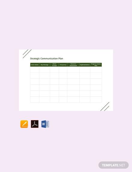 free strategic communication plan template1