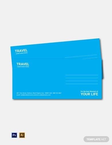 free travel agency envelope template