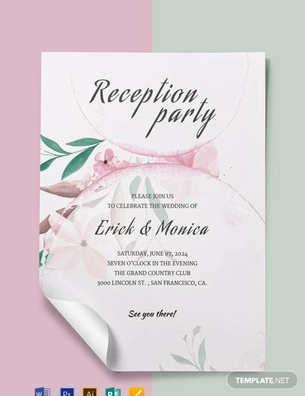 free wedding reception program template