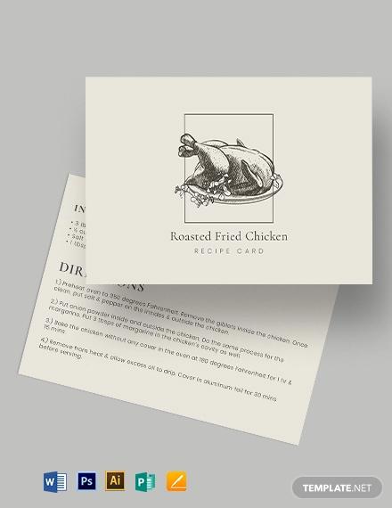 general recipe card template
