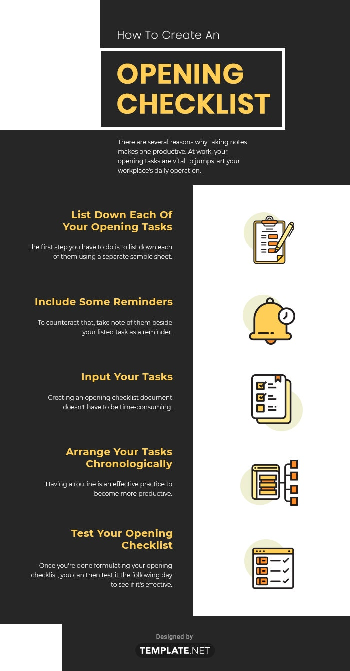 opening checklist template