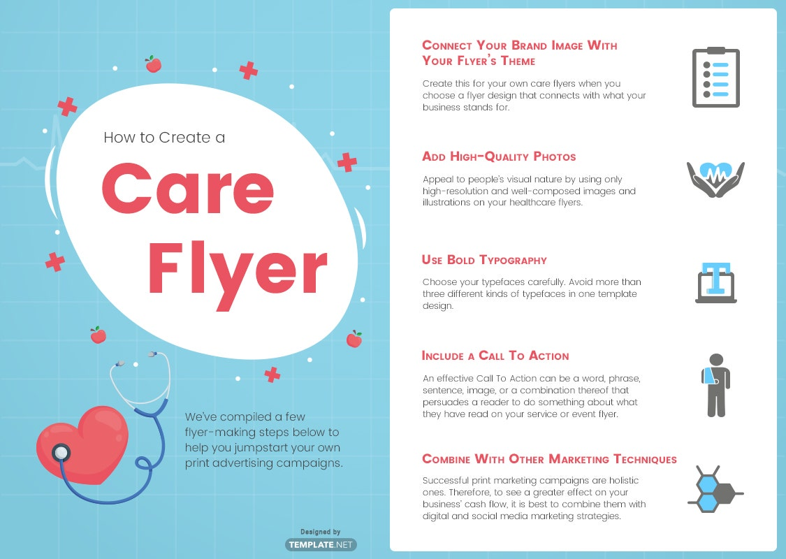 how to create a care flyer