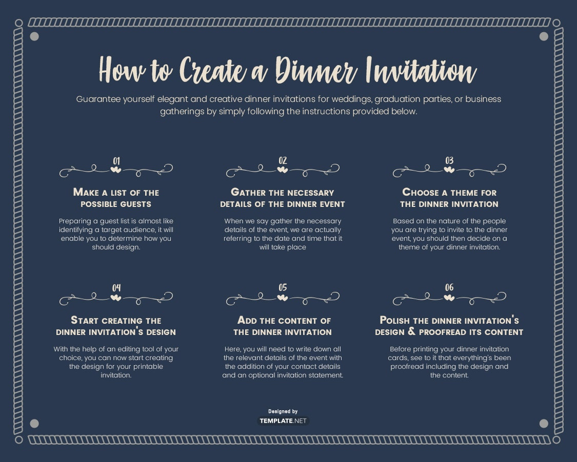 how to create a dinner invitation