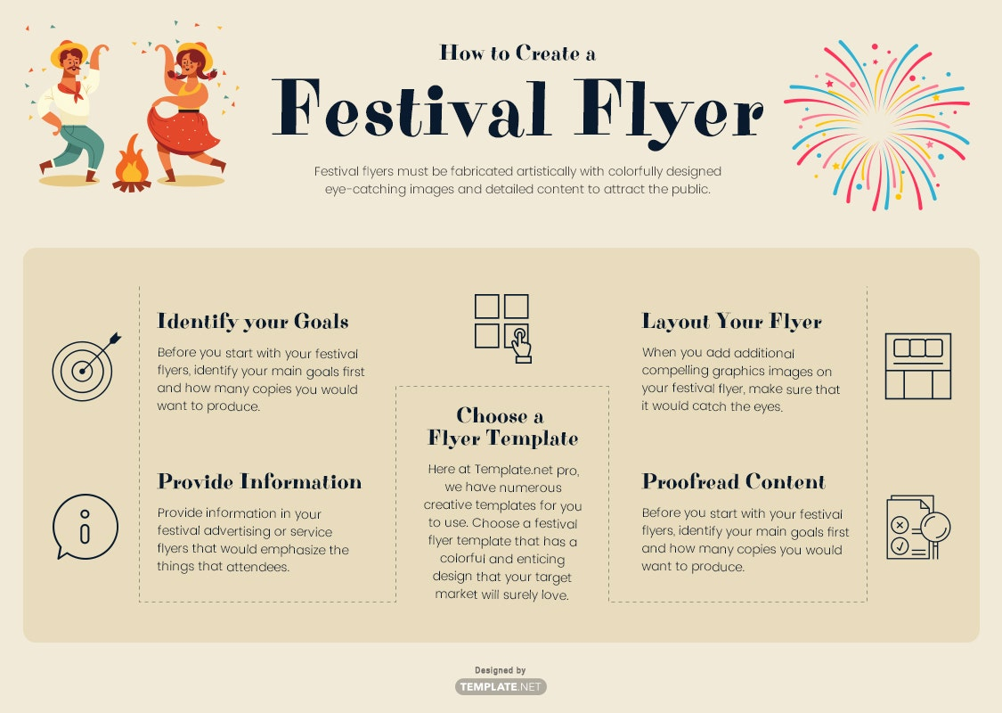 how to create a festival flyer